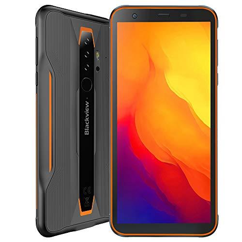 Blackview BV6300, Outdoor Smartphone Android 10, 3GB + 32GB, 13MP Quad-Kamera HD+, Wasserdichtes Stoßfestes IP68 Handy, 5,7'' HD +, NFC Ultra Dünn,Orange