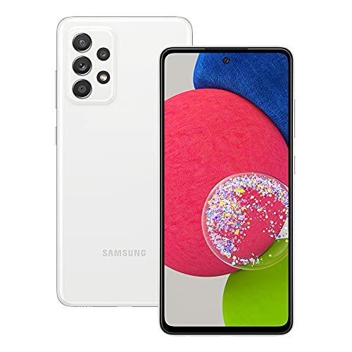 Samsung Galaxy A52s 5G Smartphone ohne Vertrag 6.5 Zoll Infinity-O FHD+ Display 128 GB Speicher 4.500 mAh Akku und Super-Schnellladefunktion White 30 Monate Herstellergarantie [Exklusiv bei Amazon]