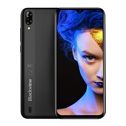 Blackview A60 Smartphone ohne Vertrag Günstige, Dual SIM Android 8.1 Handy - 6,1 Zoll Wassertropfen Vollbildschirm, 4080mAh Akku, 13MP+5MP Dual Kamera, 16GB ROM, 128 GB erweiterbar -Schwarz