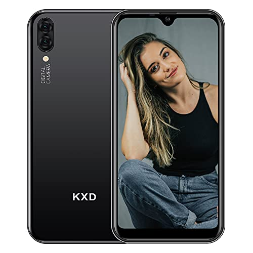 KXD A1 Smartphone ohne Vertrag 5.71 inch 16GB ROM 128GB erweiterbar, 5MP Dual Kamera, Dual SIM Android Entsperrtes Handy 3 in 1 Steckplatz, Global Version