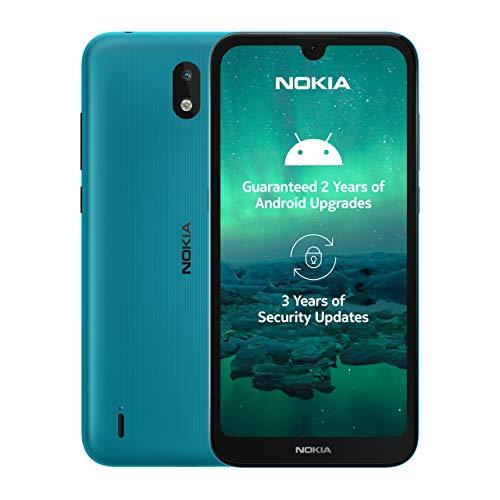 Nokia 1.3 Smartphone - Deutsche Ware (14,3cm (5.71 Zoll), 16GB interner Speicher, 1GB RAM, Dual Sim), cyan