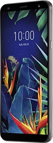 LG K40 Smartphone (14.48 cm (5.7 Zoll) LC-Display, 32 GB interner Speicher, 2GB RAM, MIL-STD-810G, Android 8.0) Platinum Gray