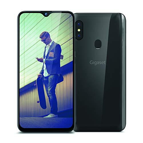 Gigaset GS290 Allrounder Smartphone (16 cm (6,3 Zoll) V-Notch Display, 4GB RAM, 64GB Speicher, Android 10, ohne Vertrag mit Clearcover zum Schutz) titanium grey