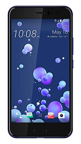HTC U11 Smartphone Single SIM (13,97cm (5,5 Zoll), 16 MP Frontkamera, 64GB Speicher, Android) blau