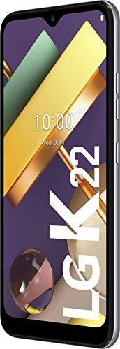 LG K22 Smartphone 32 GB (15,75 cm (6,2 Zoll) IPS-Display mit Notch, Dual-Hauptkamera, MIL-STD-810G, Android 10), Titan