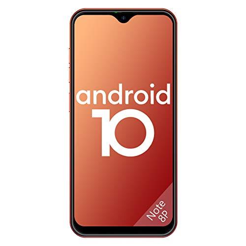 4G Handy ohne Vertrag Günstig, Ulefone Note 8P Smartphones Dual SIM Android 10 5,5' Wassertropfen-Bildschirm 16GB ROM 3 in1 Steckplatz 8MP+2MP+5MP Dreifache Kameras Gesichtserkennung GPS (Orange)
