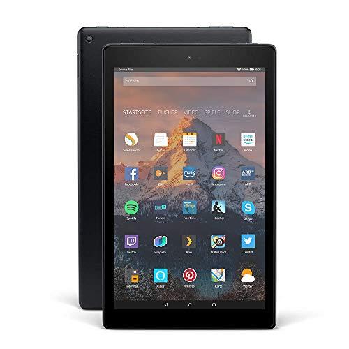 Fire HD 10-Tablet, 1080p Full HD-Display, 64 GB, Schwarz, mit Spezialangeboten (vorherige Generation – 7.)