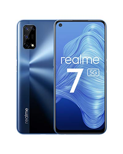 Realme 7 5G - Smartphone 128GB, 8GB RAM, Dual Sim, Baltic Blue