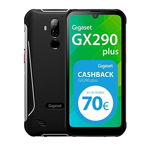 Gigaset GX290 Plus Smartphone - staubresistent, wasserdicht (IP68) - Display mit Corning Gorilla Glas 3-6200 mAh Akku, Schnellladefunktion - 4GB RAM+64GB Speicher - Android 10 - Black/Titanium Grey