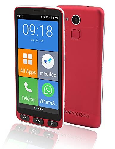 Olympia Neo Senioren Smartphone Extragroße Darstellung Hörgerätekompatibel Notruftaste