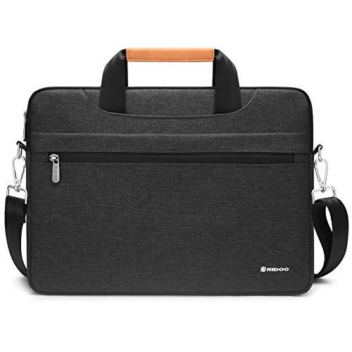 NIDOO Laptop Aktentasche 14 Zoll Laptoptasche Handtasche Schulter Tasche Hülle für 14' Lenovo IdeaPad 3 5 520S C340 / ThinkPad X1 Carbon Yoga/ThinkPad E495 T495s / 14' Swift 3 5/14' Latitude 14