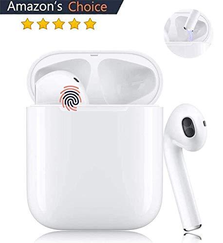 Bluetooth-Kopfhörer, Kabellose Kopfhörerr IPX7 wasserdichte, Noise-Cancelling-Kopfhörer, Geräuschisolierung,mit 24H Ladekästchen und Mikrofon für Android/iPhone/Samsung/Apple AirPods Pro/Huawei