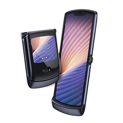 "Motorola razr 5G Dual-SIM Smartphone (6,2""-HD-pOLED-Display/Externes 2,7-gOLED-Display, 48-MP-Quad-Pixel-Kamera, 256 GB/8 GB, Android 10) Schwarz inkl. Ear-Buds [Exklusiv bei Amazon]"