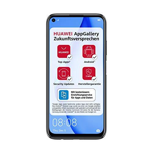 HUAWEI P40 lite Dual-SIM Smartphone Bundle (16 cm (6,4 Zoll), 128 GB interner Speicher, Android 10.0 AOSP ohne Google Play Store, EMUI 10.0.1) midnight black [Exklusiv +5EUR Amazon Gutschein]