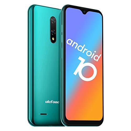 Ulefone Note 8P Smartphone Android 10-4G Dual SIM Billig Handy mit 3 in1 Steckplatz 5,5-Zoll-Bildschirm 2GB RAM 16GB ROM 8MP+2MP+5MP Dreifache Kameras Gesicht Freischalten (Grün)