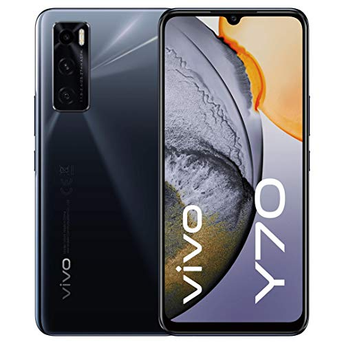 vivo Y70, 33W FlashCharge, Smartphone 8 + 128 GB, 48MP KI-Triple-Kamera, 16MP Super-Night-Selfie, Ohne SIM Card, 6,44 Zoll (Gravity Black)