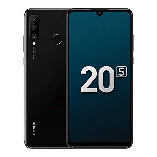 """Honor 20S Handy Smartphone, 6GB+128GB, 6,15"""" FullView-Display, 48MP + 8 MP + 2 MP Hauptobjektiv, Weiter Winkel Dreifach-Kamera (Mitternacht schwarz)"""