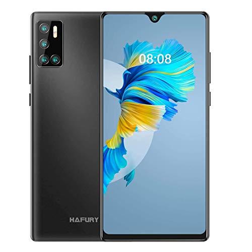 Günstiges Smartphone ohne vertrag, 128GB Speicher (256GB erweiterbar),6.2 Zoll Bildschirm, Android 10 Handy mit AI Quad Kamera, 4200mAh großer Akuu, HAFURY G20 Deutsch Version (Schwarz)