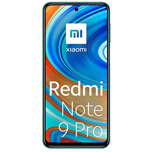 Xiaomi Redmi Note 9 Pro Smartphone 6GB RAM 128GB ROM 6.67' DotDisplay 64MP AI Quad Camera 5020mAh (typ)* NFC Grün [Globale Version]