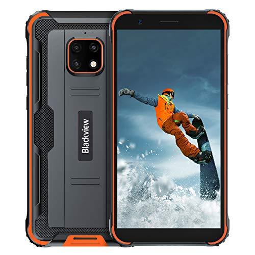 Blackview 4900 Pro Outdoor Smartphone ohne Vertrag Android 10,0 Dual SIM Karte 4G Handy 5.5 Zoll HD Display,5580mAh Akku 4GB RAM+64GB ROM 128GB Erweiterbar 13MP Hintere Dreifachkamera NFC,Face ID,GPS