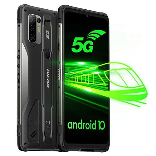 Ulefone Armor 10 5G Smartphones - Android 10 Outdoor Handy ohne Vertrag Octa-Core MediaTek Dimensity 800 Chipsatz 8GB+128GB 6,67 Zoll FHD+ Bildschirm 64MP Hauptkamera Wasserdicht Rugged Phone