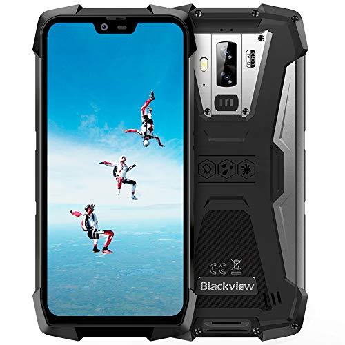 Blackview BV9700 Pro Outdoor Handy Ohne Vertrag, Dual SIM 6GB RAM+128GB ROM, 16MP+8MP+16MP Kamera, 5,84 Zoll FHD, 4380mAh Akku, Helip P70, IP69K Wasserdicht Handy NFC Face ID Fingerabdrucksensor