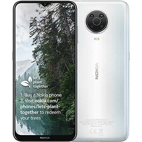 Nokia G20 - Smartphone 64GB, 4GB RAM, Dual SIM, Glacier White