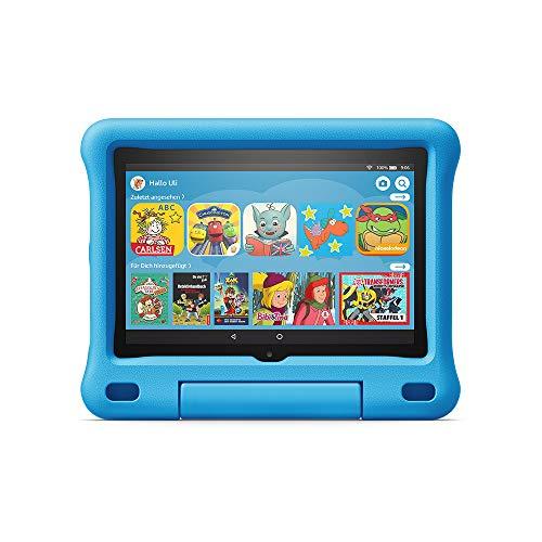 Fire HD 8 Kids Edition-Tablet, 8-Zoll-HD-Display, 32 GB, blaue kindgerechte Hülle