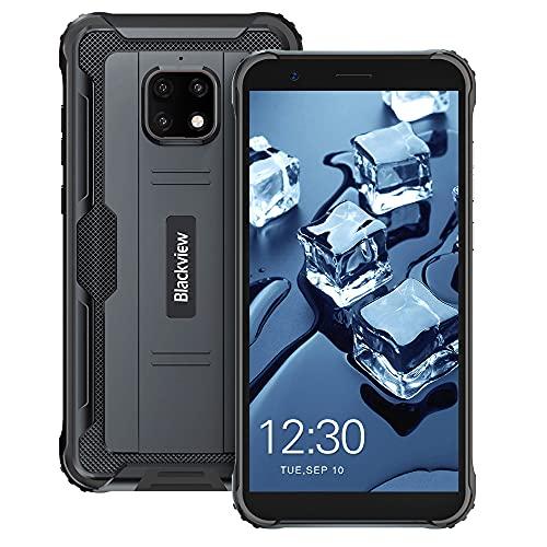 Blackview BV4900 Pro (2021) Outdoor Smartphone ohne Vertrag Günstige 5,7 Zoll HD+ Display 4GB/64GB, 128GB Erweiterbar 5,580mAh 13MP+5MP Android 10 Dual SIM 4G Handy - NFC/Face ID/OTG/GPS (Schwarz)