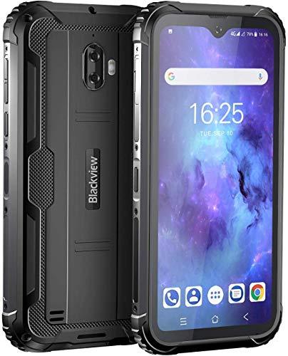 Blackview BV5900 Outdoor Handy Ohne Vertrag 5580mAh Akku, 5,7 Zoll IP69K Stoßfest Smartphone mit 13MP + 5MP Kamera, 4G Dual SIM 3GB RAM+32GB Speicher, Android 9.0, WLAN 5G, NFC Face ID GPS (Schwarz)