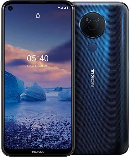 Nokia 5.4 Smartphone mit 6,39-Zoll-HD+-Display, 4 GB RAM, 128 GB Speicher, 48-MP-Vierfach-Kamera, Qualcomm Snapdragon 662, 2 Tagen Akkulaufzeit und Android-Upgrades, Dual-SIM - Polar Night