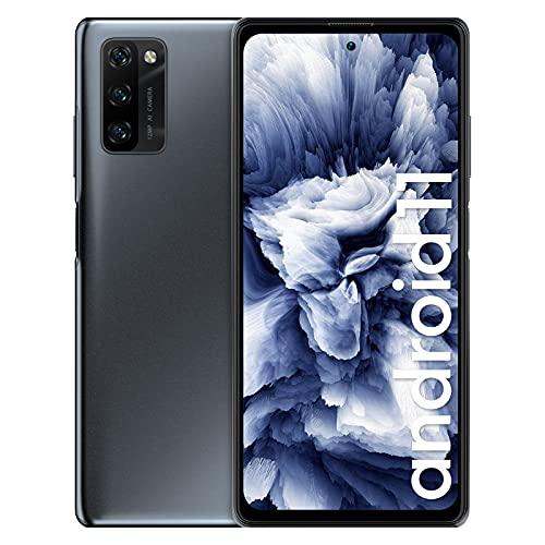 Blackview A100 Android 11 Smartphone ohne Vertrag 6,67 Zoll FHD+ Infinity-O Display 128GB/ 6GB RAM MTK P70 Octo-Core mit 18W 4.680mAh Akku, 12MP AI-Hauptkamera Dual SIM Handy - NFC/5G-Wifi - Schwarz