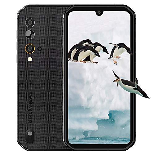 Blackview BV9900E Outdoor Smartphone ohne Vertrag 4g- 5.84' FHD+ 1080 * 2280, Helio P90 Octa-Core 6GB/128GB, 48MP/16MP Kamera, Android 10, 4380mAh Batterie - 5G WiFi, BT5.0, NFC, OTG (Schwarz)