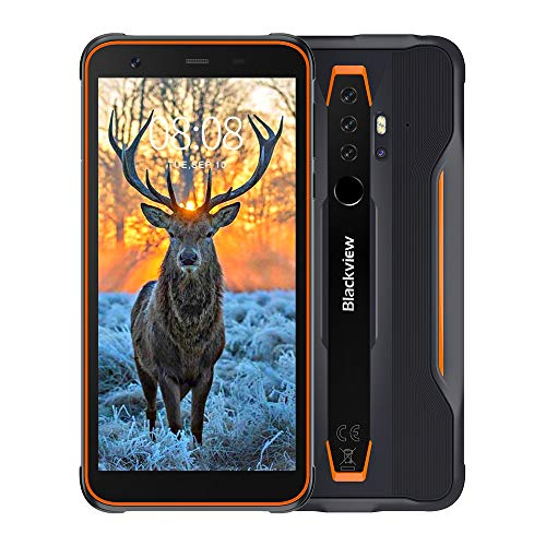 Blackview BV6300 Pro (2020) Outdoor Smartphone ohne Vertrag - Ultraslim Ergonomisches Design - 5,7 Zoll Android 10, 16MP Quad-Kamera mit HDR, P70 Octa-Core 6GB/128GB, 4380mAh Akku, Dual SIM Handy