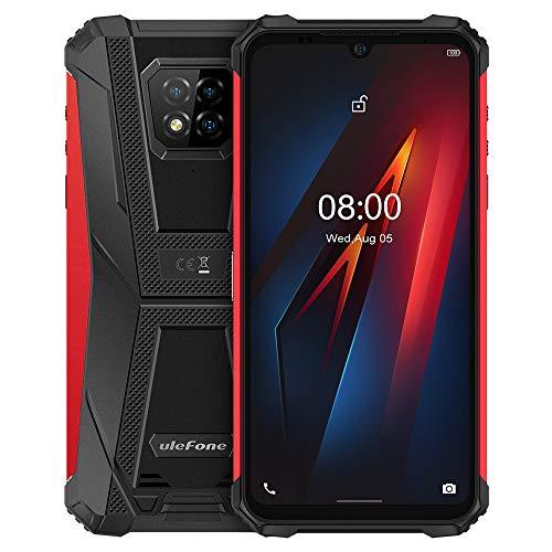 Ulefone Armor 8 Outdoor Smartphone Android 10, 6,1'' HD+ IP68 Wasserdichtes Robust Handy ohne Vertrag, Helio P60 4GB+64GB, 16MP Quad-Kamera, NFC DUAL SIM, Gesichtsentsperrung Fingerabdruck Rot