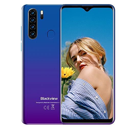 Blackview A80 Plus Smartphone ohne Vertrag 4G - 6,49 Zoll HD+ Display 4680mAh Akku, 13MP-Quad-Kamera, 4GB RAM/64GB ROM, 256GB erweiterbar Dual SIM Android 10 Handy - NFC/Type-C/GPS/Face ID