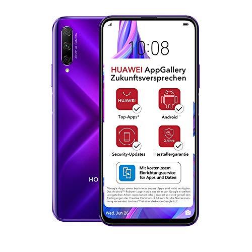 HONOR 9X PRO Dual-SIM Smartphone - Phantom Purple (6,59 Zoll Display, 256 + 6GB, Android 9.0 AOSP ohne Google Play Store, EMUI 9.1) + 48MP Triple-Kamera + 16MP Frontkamera – Deutsche Version