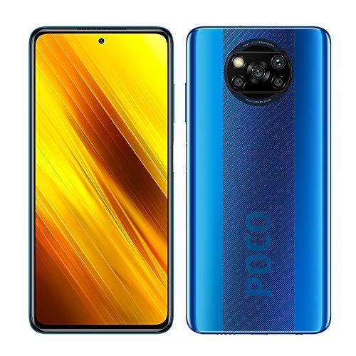"Xiaomi Poco X3 NFC Smartphone RAM 6GB ROM 64GB 6,67""FHD+ LCD DotDisplay Hochleistungsbatterie mit 5160 mAh (typ) Blau [Globale Version]"