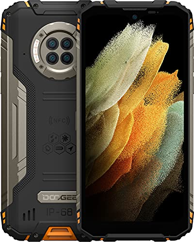 Outdoor Handy, DOOGEE S96 Pro (2021) 4G Dual SIM Smartphone Ohne Vertrag mit 20MP Nachtkamera, 8GB + 128GB Helio G90, 6350mAh, 6,2 Zoll, 48MP Quad Kamera, Android 10.0 Smartphone Wasserdicht, NFC/GPS