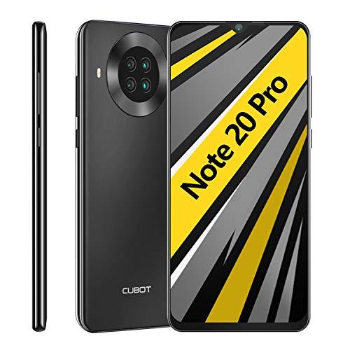 CUBOT Note 20 Pro Smartphone ohne Vertrag, 6GB RAM+128GB ROM 4G Handy, Günstig 6.5″HD+ Display, 4200mAh Akku, AI Kameras, Dual SIM, Android 10.0, NFC, Face ID, Deutsche Version, Schwarz