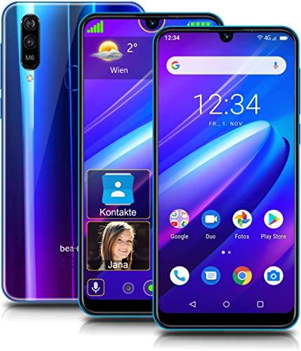 Beafon M6 Smartphone, blau