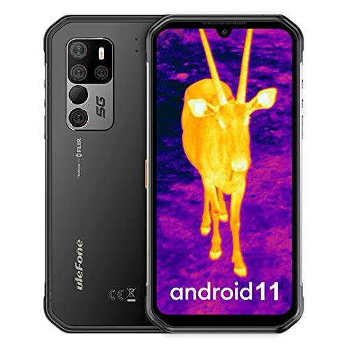 Ulefone Armor 11T 5G Handys, integrierte Wärmebildkamera Outdoor Smartphone ohne Vertrag 8GB+256GB, MediaTek Dimensity 800 Chipsatz, Android 11 48MP Hauptkamera 6,1-Zoll-Display