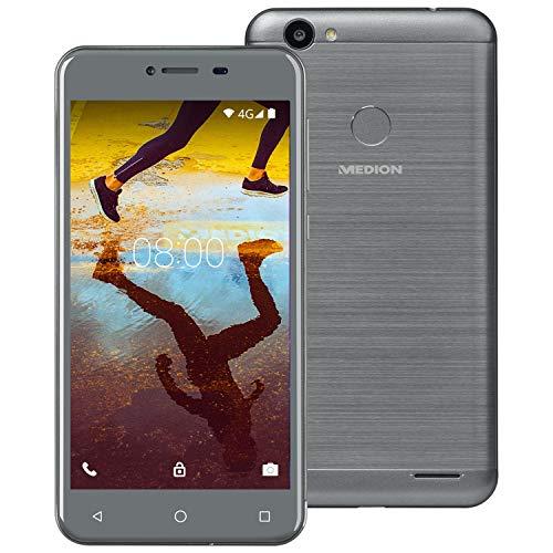 MEDION E5008 12,7 cm (5 Zoll) HD Smartphone (Android 7.0 Nougat, LTE, 32 GB Speicher, 3GB RAM, Quad-Core-Prozessor, GPS, WLAN, Bluetooth, 13MP Kamera, Dual SIM)