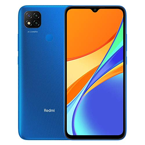Xiaomi Redmi 9C Smartphone 3GB 64GB 6.53' HD+ Dot Drop display 5000mAh (typ) AI Face Unlock 13 MP AI Triple Kamera [Globale Version] Blau