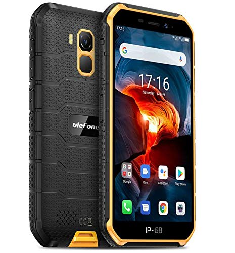Ulefone Armor X7 PRO (2020), Android 10 Outdoor Smartphone Ohne Vertrag, Quad-Core 4GB+32GB, IP68 Robustes Handy 13 MP Unterwasserfotografie, 4000mAh Akku, NFC/DUAL SIM/Gesichts Entsperrung Orange