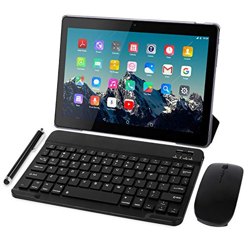 4G LTE Tablet 10 Zoll - TOSCIDO M863 Tablets Android 10.0,Tablet PC 4 GB/RAM,64 GB/ROM ,Otca Core,Dual SIM,WiFi,Unterstützung Bluetooth Tastatur  Maus M863 Tablet Cover und Mehr Enthalten - Grau