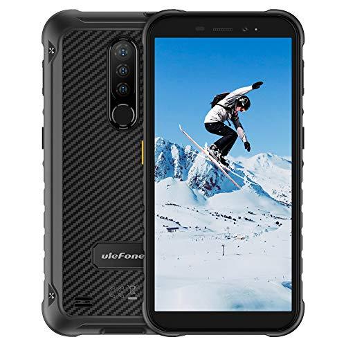 Outdoor Smartphones ohne Vertrag 5,7-Zoll, Ulefone Armor X8 4G Handys, IP68/IP69K, 4+64GB Speicher, Octa-Core, 13MP Hauptkamera mit 2*2MP Subkameras, 8MP Frontkamera,5080mAh Batterie,Dual Sim-Schwarz