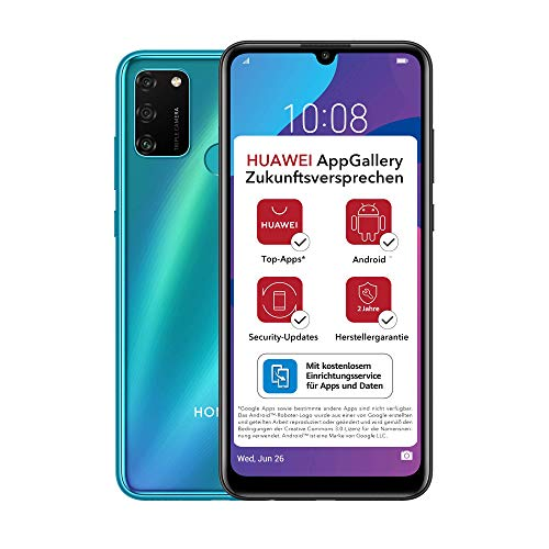 HONOR 9A Dual-SIM Smartphone - Phantom Blue (6,3 Zoll Display, 64 + 3GB, Android 10 AOSP ohne Google Play Store, Magic UI 3.1) + 13MP Triple-Kamera + 8MP Frontkamera – Deutsche Version